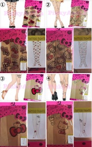 Image of Hello Kitty Tattoo Tights Stocking (Size for M-L) *Sold only in JAPAN*4 DESIGNS*