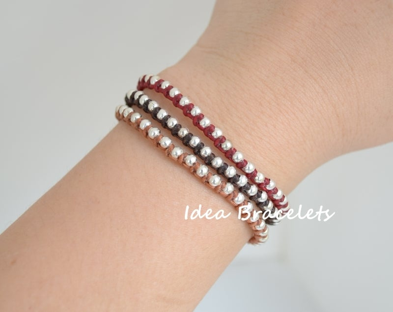 Image of Multi Layers Bohemain Macrame Bracelets - Brown tone