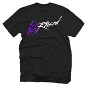 "Image of KY Raised ""Limited Edition Script Tee"" in Black / Purple / White"