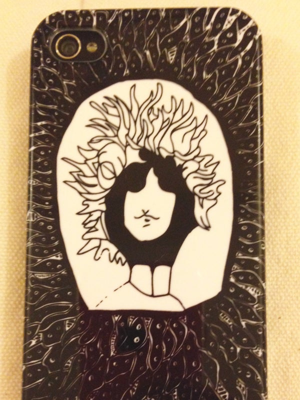 Image of Psychedelic Bob Dylan iPhone case.