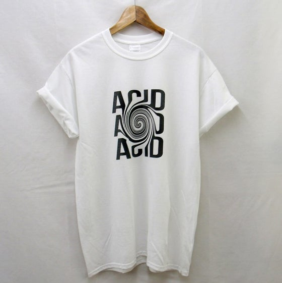Image of White Acid illusion t-shirt