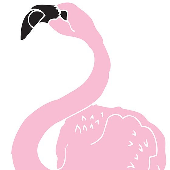 Image of Big Flamingo screen print