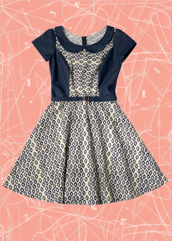 Image of Coco Dress: Woodblock
