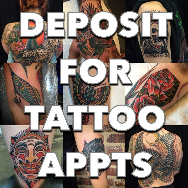 Image of DEPOSIT FOR A TATTOO APPOINTMENT