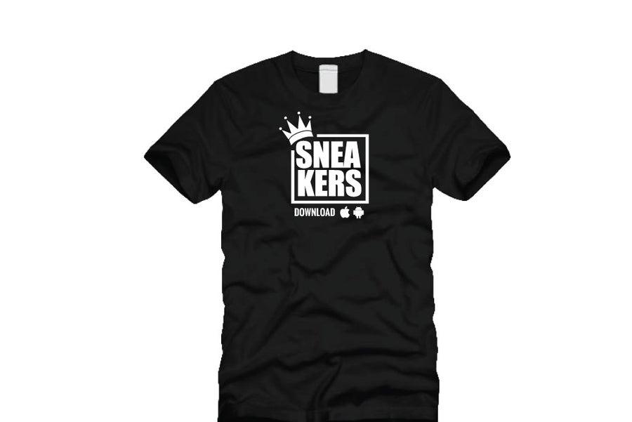 Image of Original White Sneakers Logo - Black Tshirt