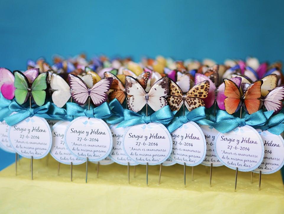 Image of Pack 100 alfileres mariposas variadas