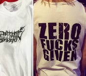 Image of Zero Fucks Given Shirt & Tanks
