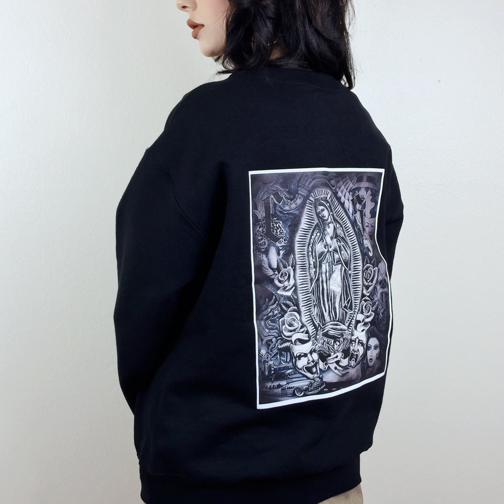 Image of Virgen Aztec Collage Sweater