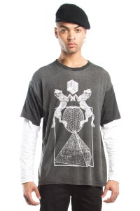 Image of Long Sleeve T-Shirt With Horses Print