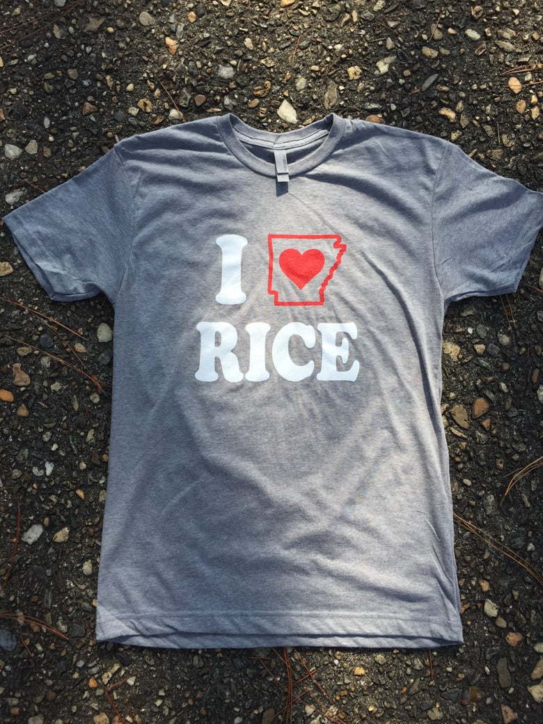 Image of T-Shirt - I LOVE Arkansas Rice