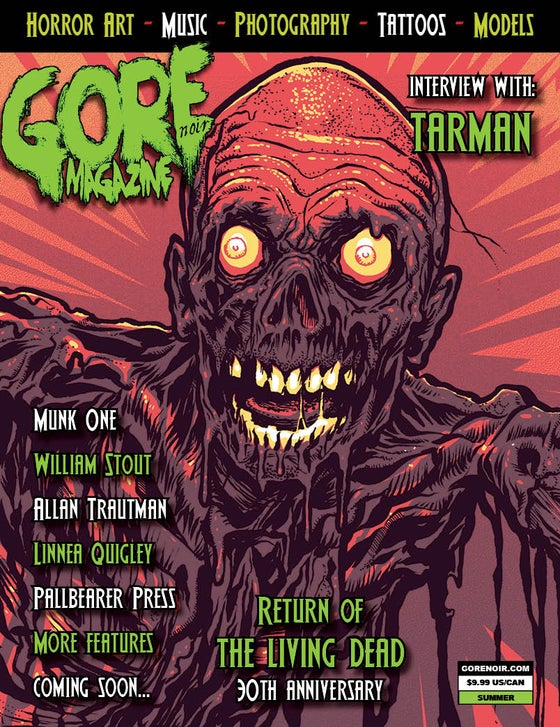 Image of Gore Noir Magazine Issue #14 Return of the Living Dead 30th Tribute!