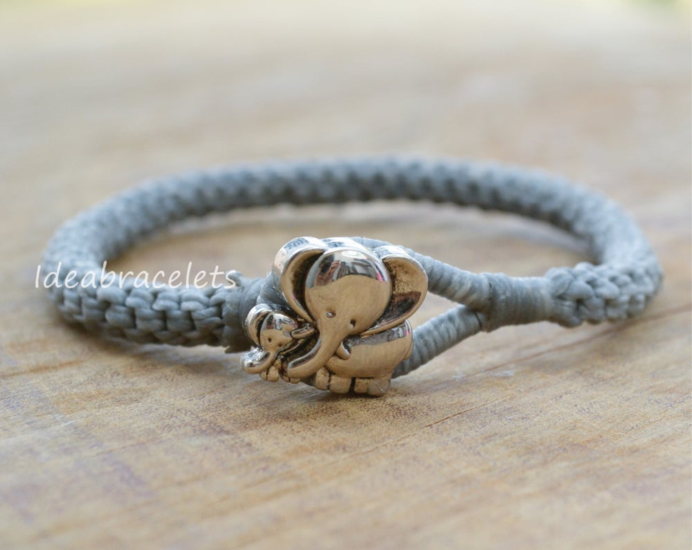 Image of Gray Color Braided Macrame Friendship Bracelet - Gray