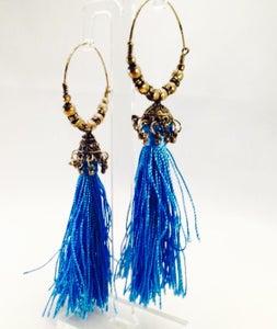 Image of Quasten Ohrringe Blue