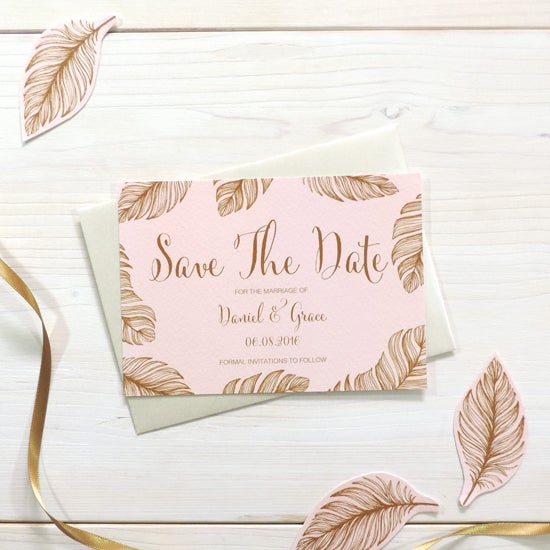 Image of Tickled Pink Bespoke Save The Date