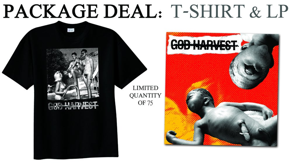 Image of God Harvest LP and T-shirt Shirt Package