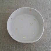 Image of Assiette moule à gâteau étoiles or AMITIÉ