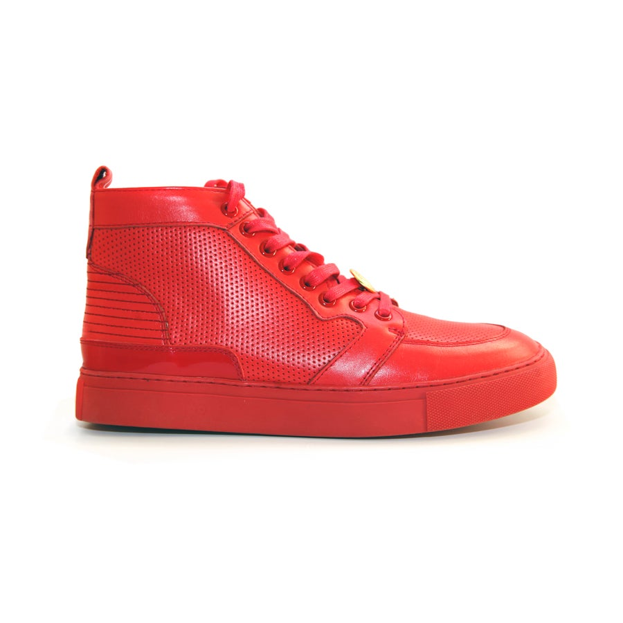 Image of Red GENESIS Italian Leather Sneaker RRP350