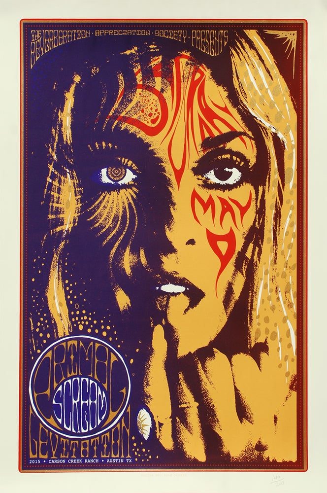 Image of SOLD OUT - Primal Scream at Austin Psych Fest AKA Levitaion SIlkscreen Poster