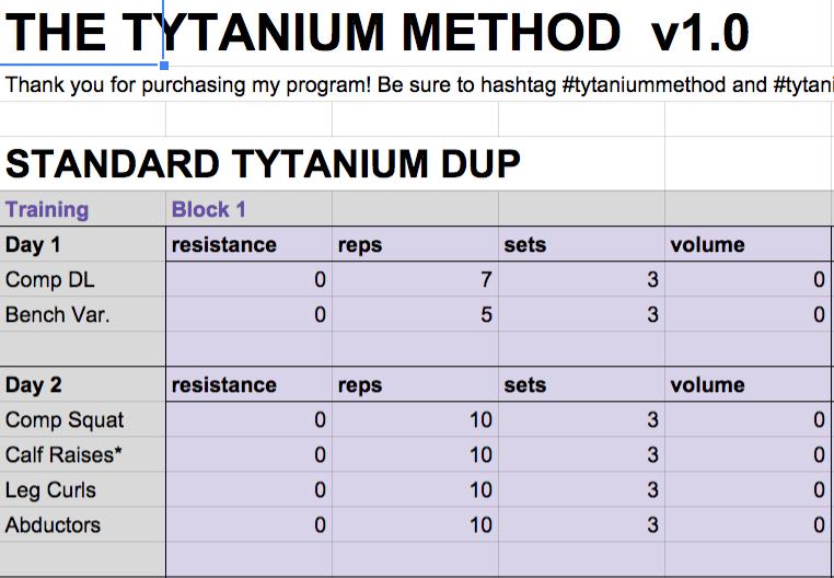 Image of Tytanium DUP - Tytanium Method v1.0