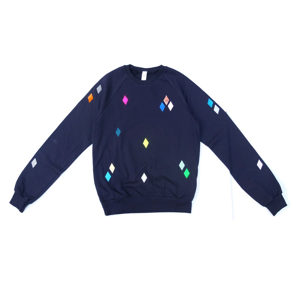 Image of Sweater Diamonds navy ADULTS