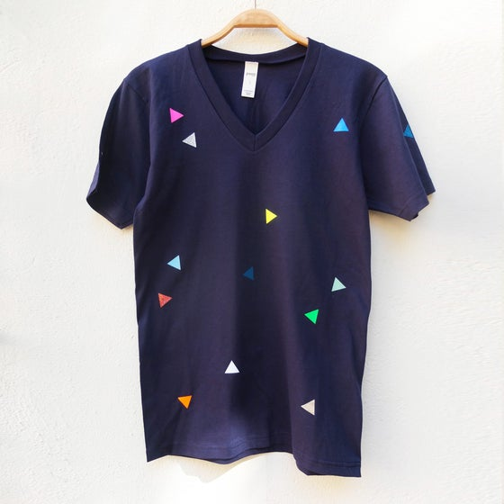 Image of T-Shirt Triangle navy ADULTS