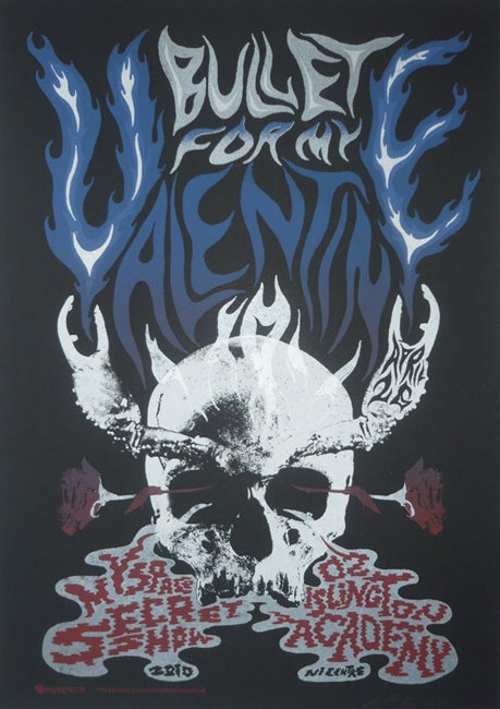 Image of Bullet for my Valentine - Myspace Secret Show Poster