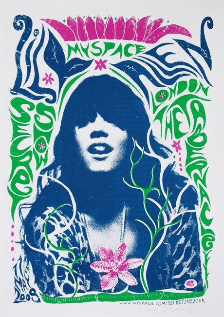 Image of Lily Allen Myspace Secret Show Poster