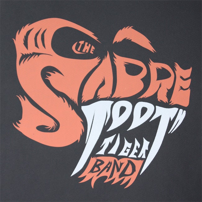 Image of The Sabre Tooth Tiger Band Logo Pirnt