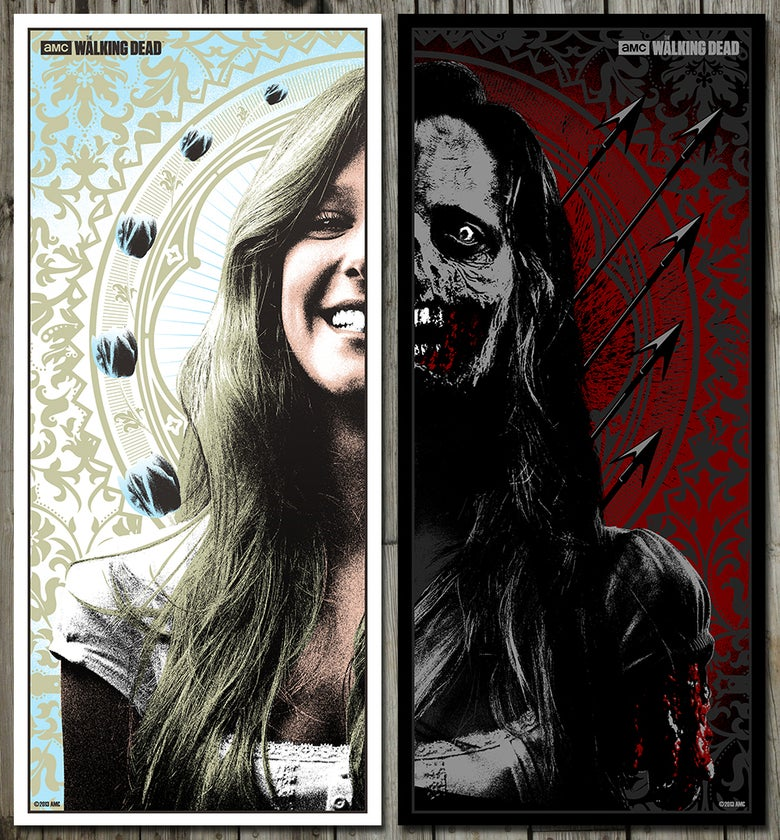 Image of The Walking Dead - Silkscreen Poster Set