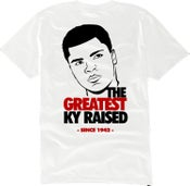 "Image of KY Raised ""Legends Series"" Greatest Tee in White / Blk / Red"