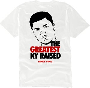 """Image of KY Raised """"Legends Series"""" Greatest Tee in White / Blk / Red"""