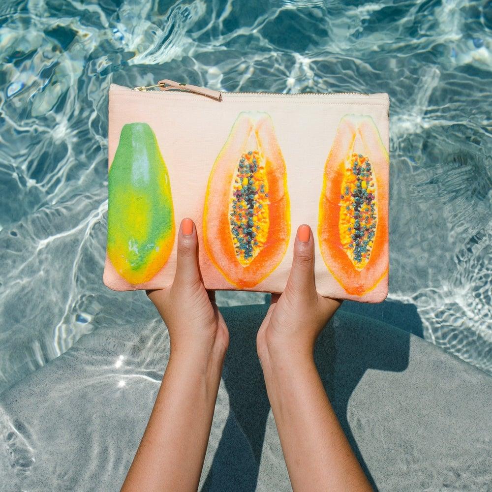 Image of Light Papaya Pouch (more sizes)
