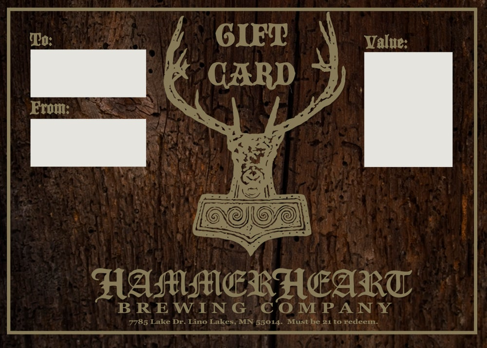 Image of HammerHeart Taproom Gift Card
