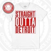 Image of Straight Outta Detroit -  red - White