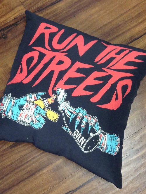 Image of RUN THE STREETS PILLOW