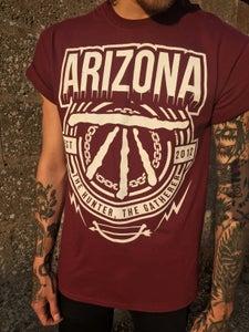 Image of Arizona Full Front Print - 'Est 2012' (Maroon)