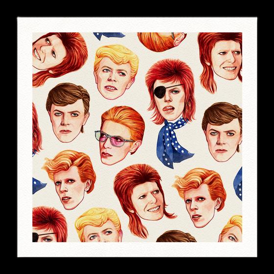 """Image of Fabulous Bowie 16"""" x 16"""" Giclée Print"""