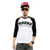Image of SIX2SIX RAGLAN (BLACK AND WHITE) + LIMITED RUN