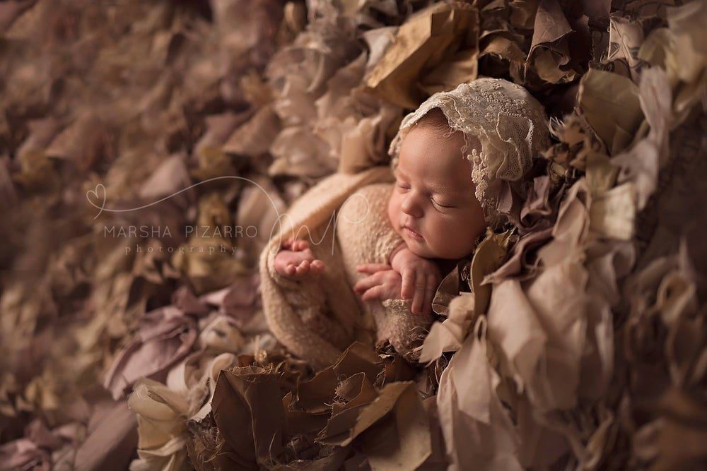 Image of Lace & Vintage lace bonnet