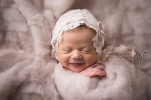 Image of Lace & Vintage lace bonnet