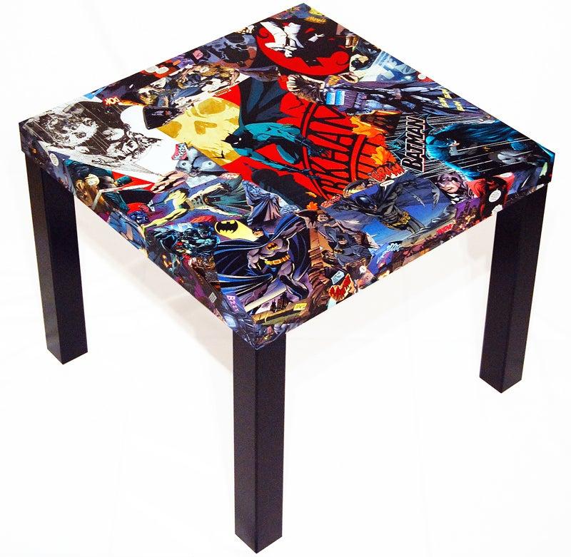 Image of Batman Comic Collage Table
