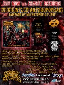 Image of DISGRUNTLED ANTROPOPHAGI Rampage Of Misanthropic Purge CD/TS