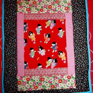 Image of Japanese Children Hanging Quilt