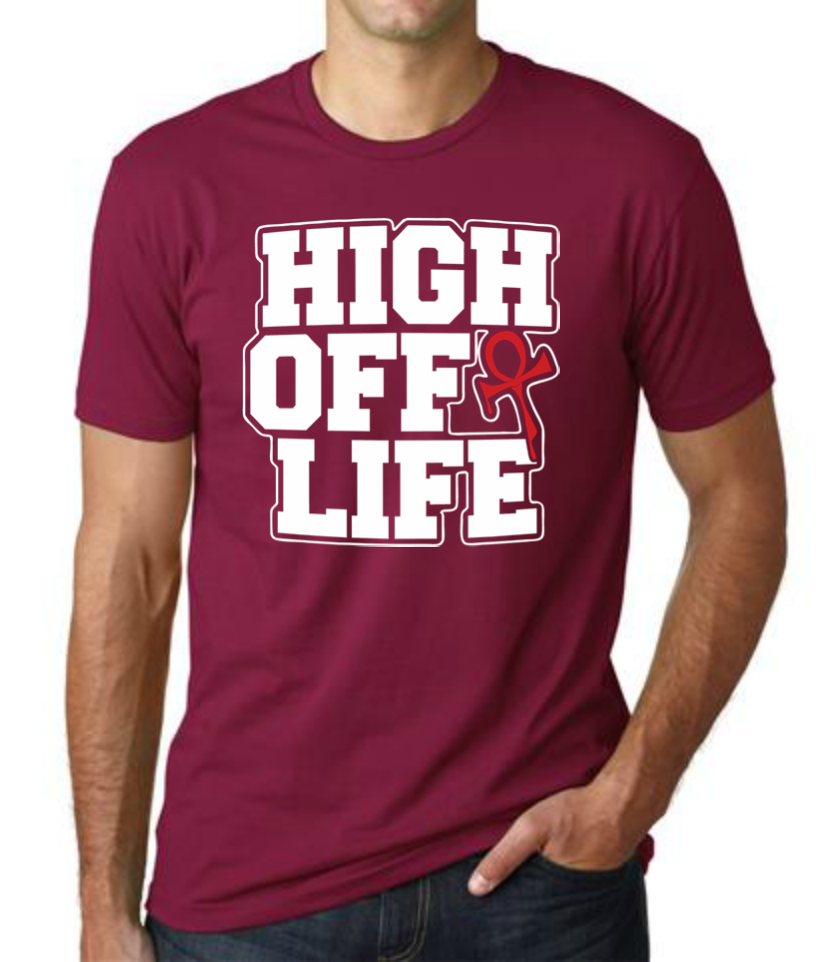 Image of 2015 High Off Life T-Shirt (Cardinal Red)