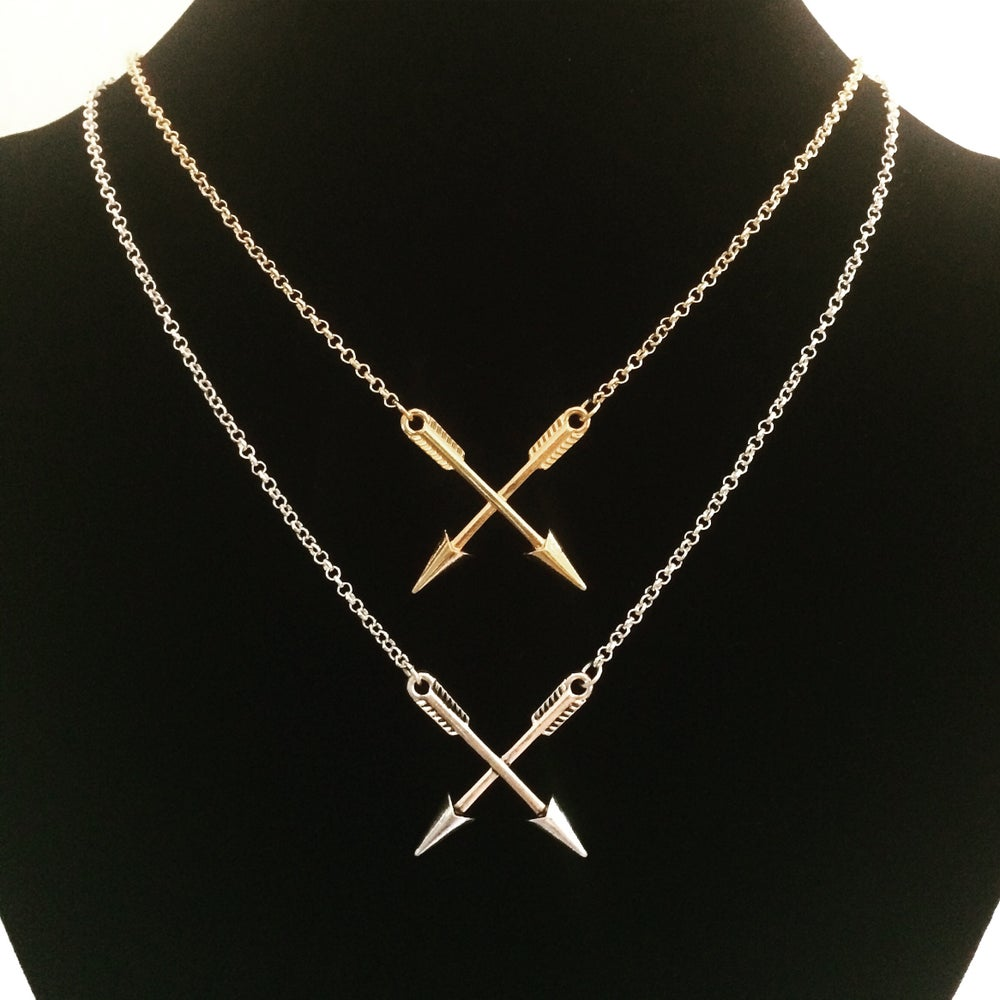 Image of Crossed arrow necklace