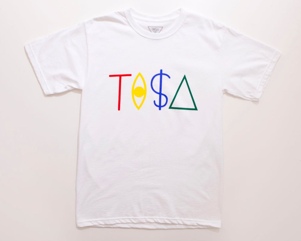 Image of TI$A LOGO T-SHIRT WHITE