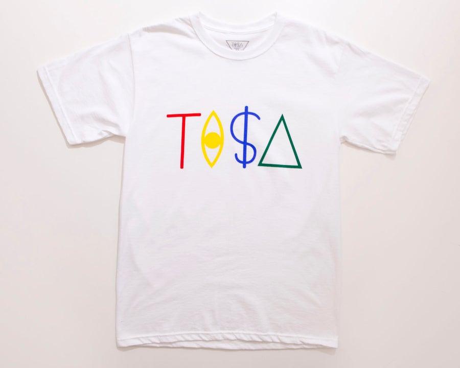 Image of TI$A LOGO T-SHIRT WHITE