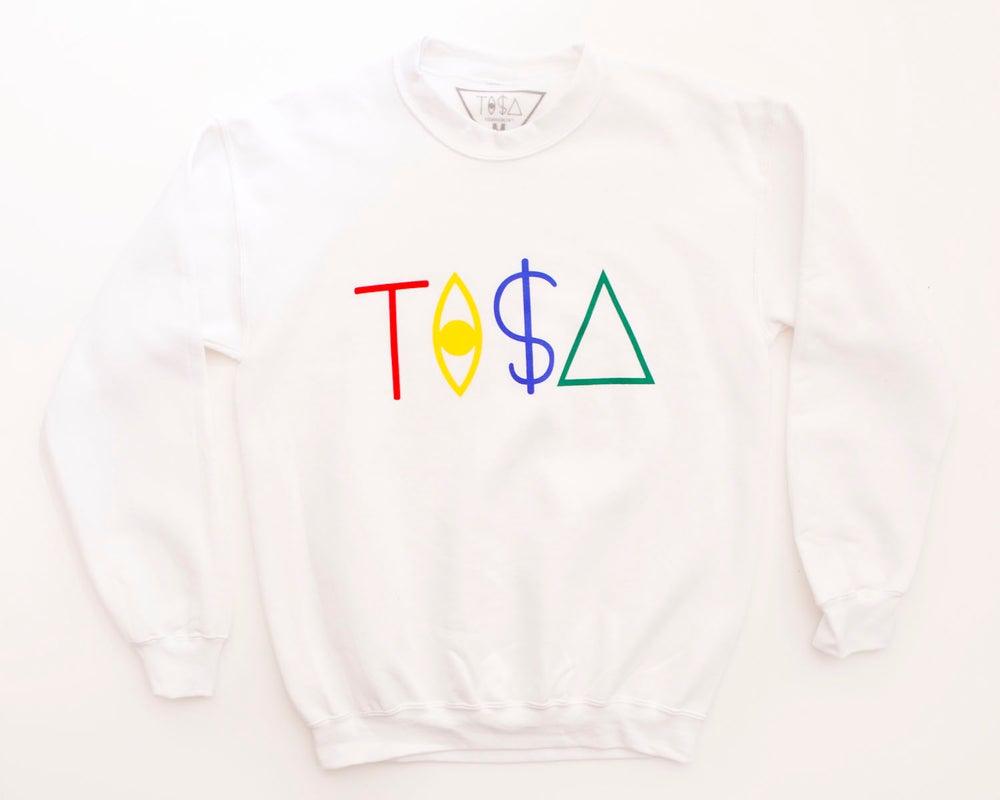 Image of TI$A LOGO SWEATSHIRT WHITE