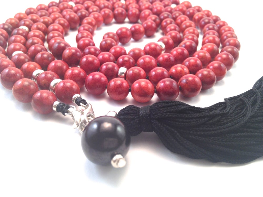 Image of Infinite Journey Red Coral Mala