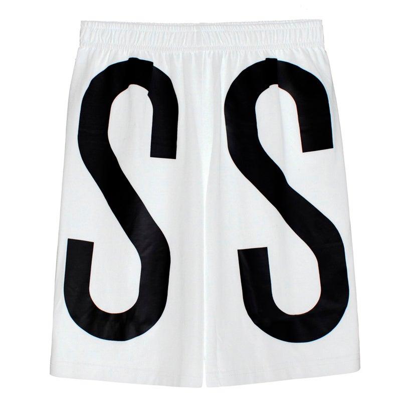 Image of ASSK WRAP LOGO Shorts - White
